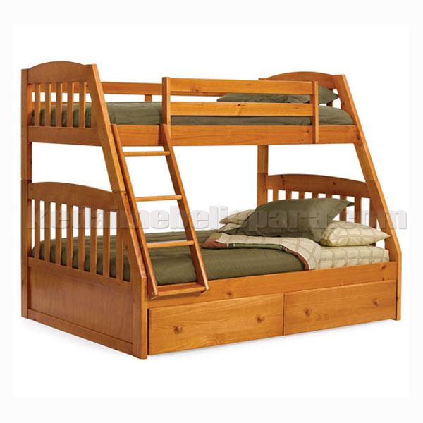 bed tingkat minimalis miring